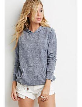 slub-knit-hoodie by forever-21