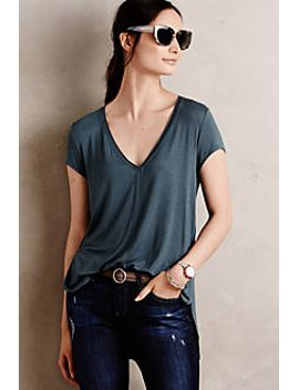 Seamed V Neck by Bordeaux