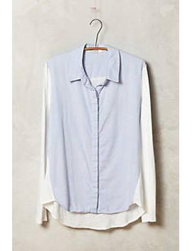 Blocked Chambray Buttondown by Anthropologie