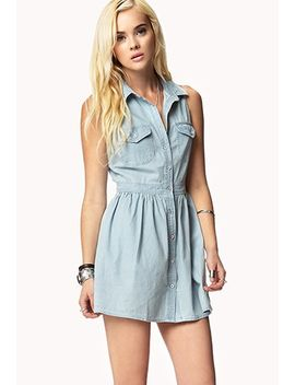 meadow-chambray-dress by forever-21