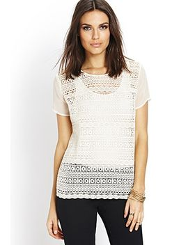geo-pattern-crochet-top by forever-21