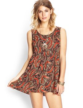 paisley-cutout-woven-dress by forever-21
