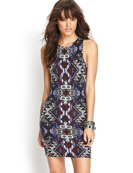tribal-print-bodycon-dress by forever-21