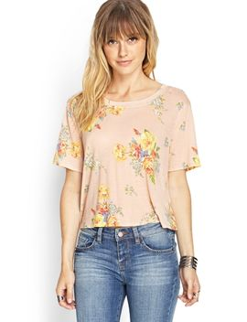 floral-lace-paneled-top by forever-21