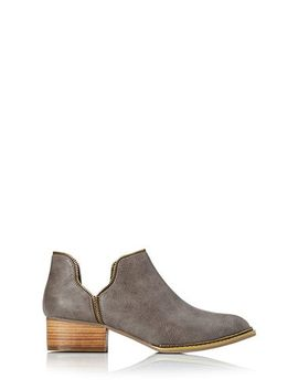 metal-moment-booties by forever-21