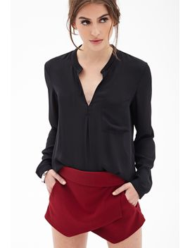 boxy-chiffon-pocket-blouse by forever-21