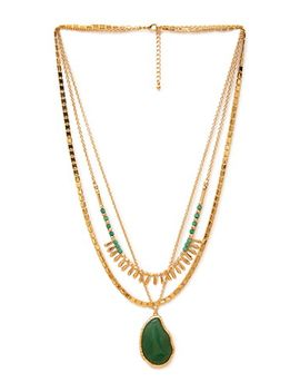faux-stone-tri-chain-necklace by forever-21