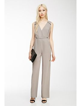 wide-leg-surplice-jumpsuit by forever-21