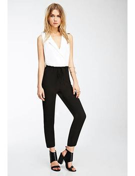 collared-combo-jumpsuit by forever-21