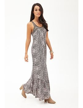 abstract-print-beaded-maxi-dress by forever-21