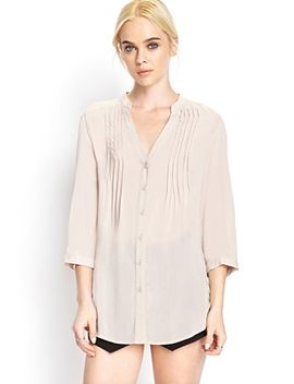crisp-pleated-button-down by forever-21