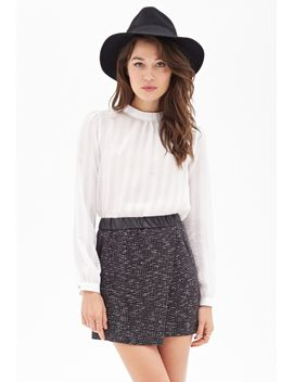 faux-leather-&-tweed-skirt by forever-21
