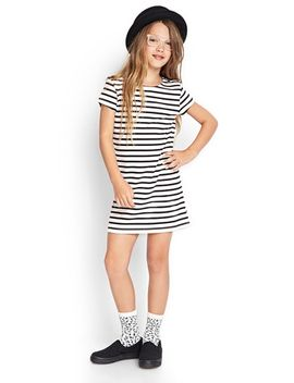 striped-t-shirt-dress-(kids) by forever-21