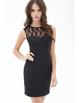 scuba-knit-lace-dress by forever-21