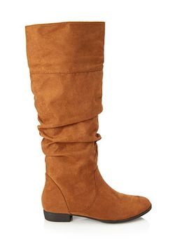 knee-high-faux-suede-boots by forever-21