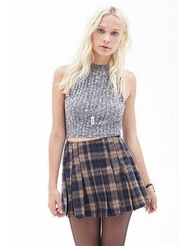 pleated-plaid-mini-skirt by forever-21