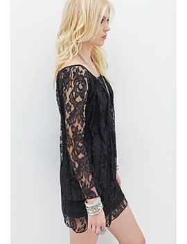floral-lace-shift-dress by forever-21