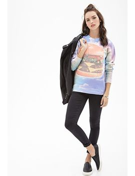 cloud-cheeseburger-graphic-sweatshirt by forever-21
