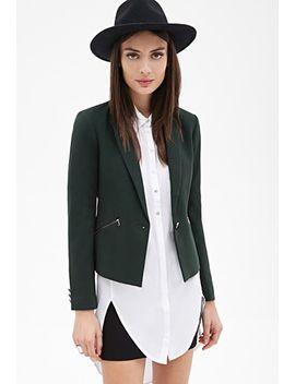 zip-pocket-blazer by forever-21