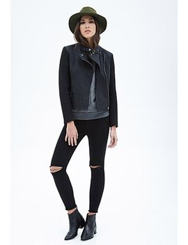 wool-blend-&-faux-leather-jacket by forever-21