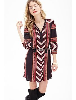 tribal-print-shift-dress by forever-21