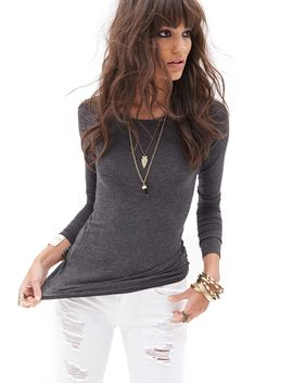 heathered-long-sleeve-top by forever-21
