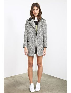 faux-leather-trimmed-marled-coat by forever-21