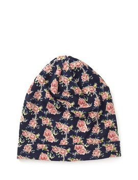 slouchy-floral-print-beanie by forever-21