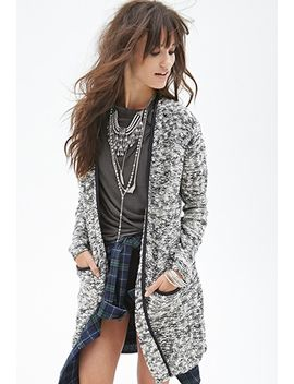 faux-leather-trimmed-cardigan by forever-21