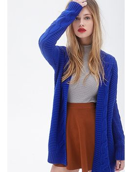 cable-knit-cardigan by forever-21
