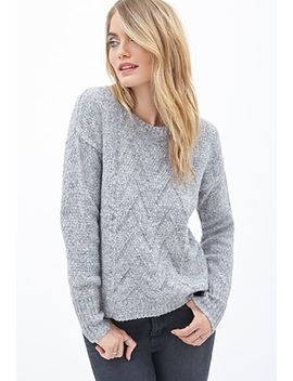 chevron-knit-crewneck-sweater by forever-21
