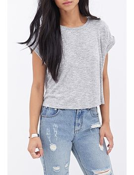 boxy-heathered-tee by forever-21