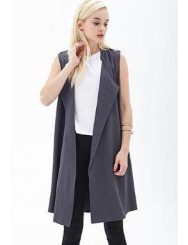 draped-crepe-woven-vest by forever-21