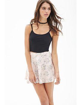 floral-scuba-knit-skater-skirt by forever-21