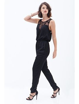 lace-paneled-woven-jumpsuit by forever-21