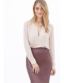 long-sleeved-chiffon-blouse by forever-21