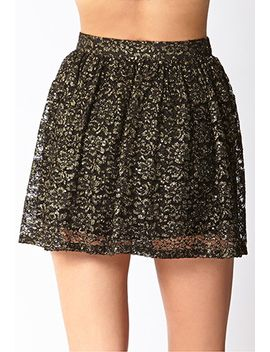 dancing-queen-metallic-skirt by forever-21