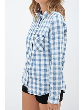 collared-gingham-shirt by forever-21