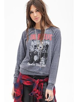 the-beatles-burnout-sweatshirt by forever-21