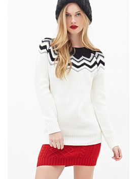 chevron-knit-sweater by forever-21
