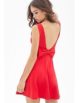 v-back-bow-dress by forever-21