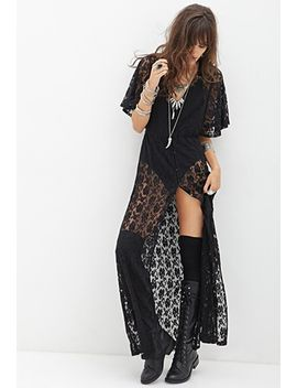 buttoned-lace-maxi-dress by forever-21