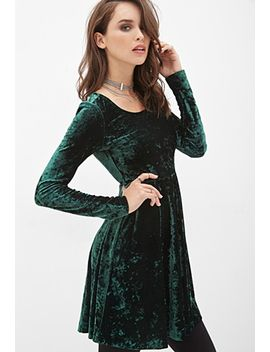 velveteen-skater-dress by forever-21