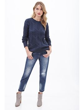 cable-knit-crew-neck-sweater by forever-21