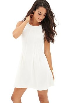 pleated-sleeveless-tea-dress by forever-21