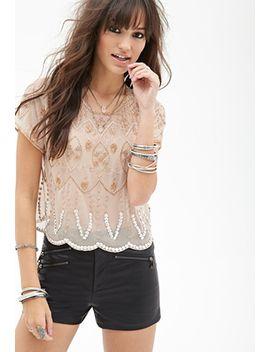 sheer-beaded-blouse by forever-21