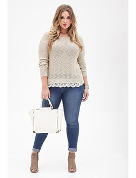 lace-trimmed-sweater by forever-21