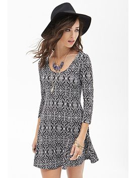 abstract-brocade-print-dress by forever-21