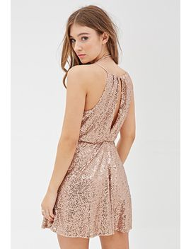 sequined-high-neck-dress by forever-21