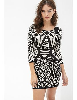 geo-pattern-bodycon-dress by forever-21